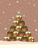 christmas pudding background