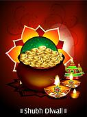 diwali background with money