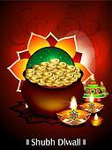 diwali background with money