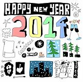 doodle happy new year 2014