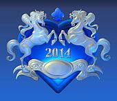 Horse heraldry