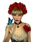 Red Poppies, 3d CG