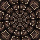 Vintage wood frame kaleidoscope