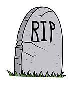 Retro Halloween Gravestone Vector
