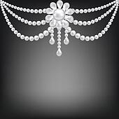 pearl brooch decoration