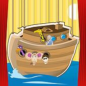 Noah ark cartoon illustration