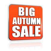 big autumn sale orange banner
