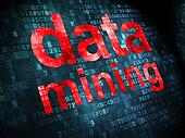 Information concept: Data Mining on digital background