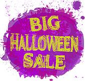 Halloween Sale Abstract Design