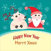 Christmas and New Year Greeting car
