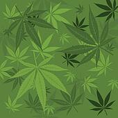 Vector marijuana background