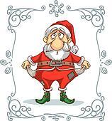 Broke Santa Cartoon