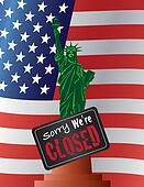 Government Shutdown Statue of Liberty Illustration