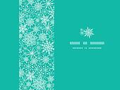 Snowflake Texture Horizontal Frame Seamless Pattern Background
