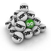 Do Vs Don't Ball Pyramid Permission Approval Attitude