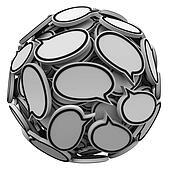 Many Speech Bubbles in a Sphere Cluster Talking Feedback