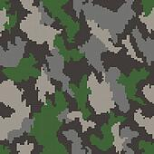 Camouflage seamless background