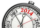 year change 2014 concept clock