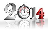 happy new year 2014 clock