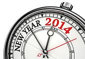 new year 2014 concept clock