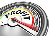 profit conceptual meter