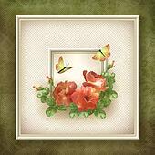 Border frame background flower butterfly design