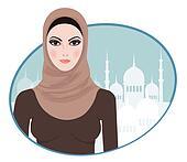 Portrait of muslim beautiful girl