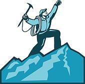 Mountain Climber Summit Retro