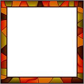 Stained-glass window frame.