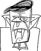 halloween vampire cartoon illustration