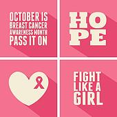 Breast Cancer Awareness Cards Colle