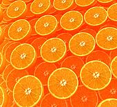 many half oranges are beautiful half orange background
