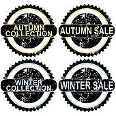 Autumn sale and winter sale rubber stamps