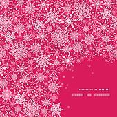 Snowflake Texture Corner Frame Pattern Background