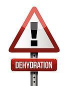 dehydration road sign illustration design