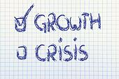 stop the crisis, start the growth
