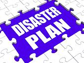 Disaster Plan Puzzle Shows Danger Emergency Crisis Protection
