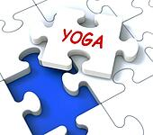 Yoga Puzzle Shows Meditate Meditation Health And Relaxation