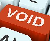 Void Key Shows Invalid Or Invalidated Contract