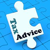 Tax Advice Puzzle Shows Taxation Irs Help