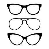 Set of classic glasses