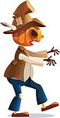 evil scarecrow walks