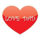 vector heart love dad
