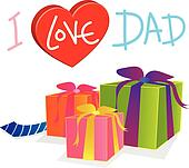 vector gift love dad
