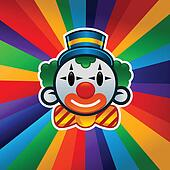 Colorful Birthday Clown
