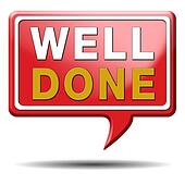 Well Done Blue Square Stamp Stock Photo, Picture And Royalty Free ...