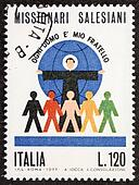 Salesians postage stamp