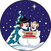 Christmas Snowman Couple