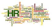 Human resources concept in tag cloud