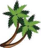 Two cartoon palms